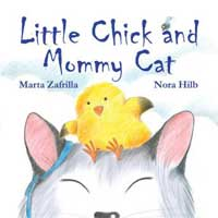Little chick mommy cat